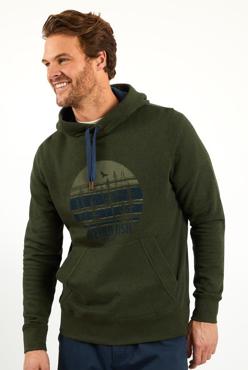 Rathmore Recycled Graphic Hoodie Khaki