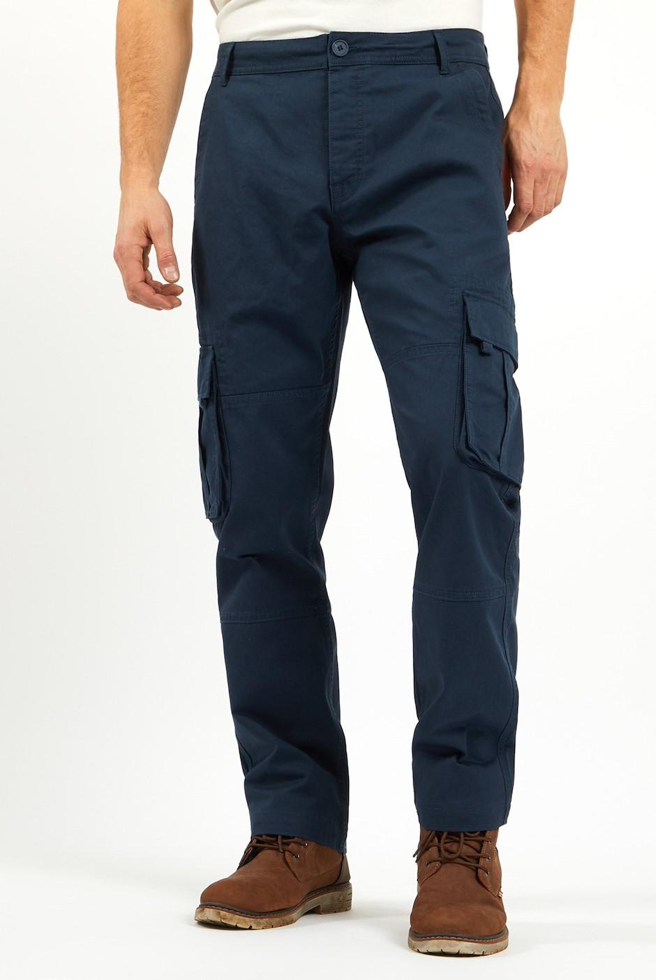 Wynn Twill Cargo Trousers Navy