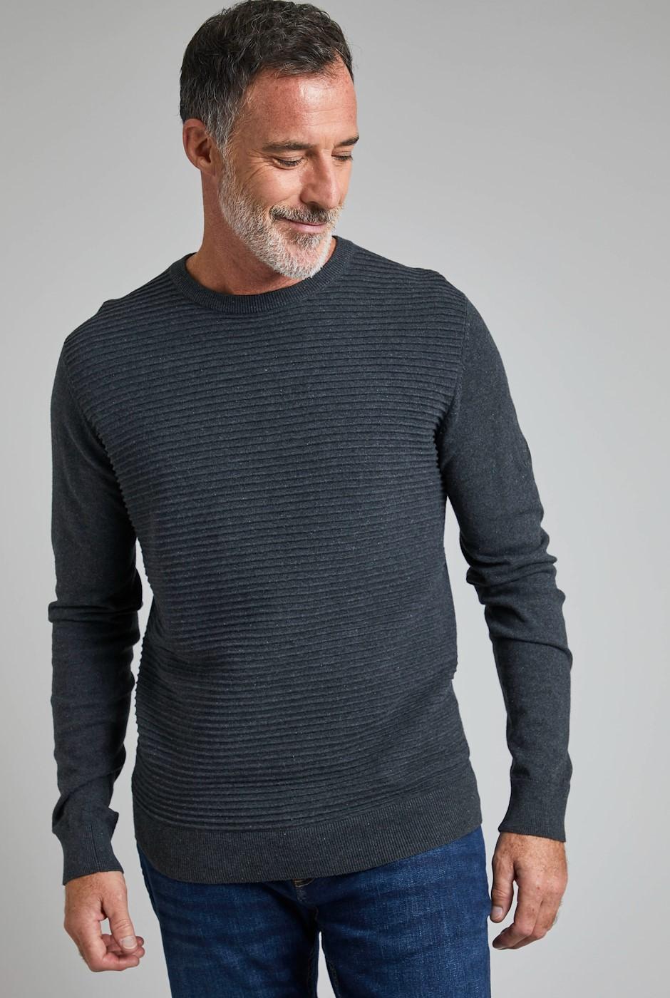 Kilkenny Ripple Stitch Jumper Grey