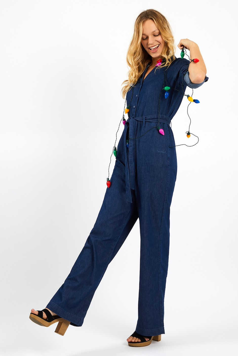 Mallory Denim Jumpsuit Denim