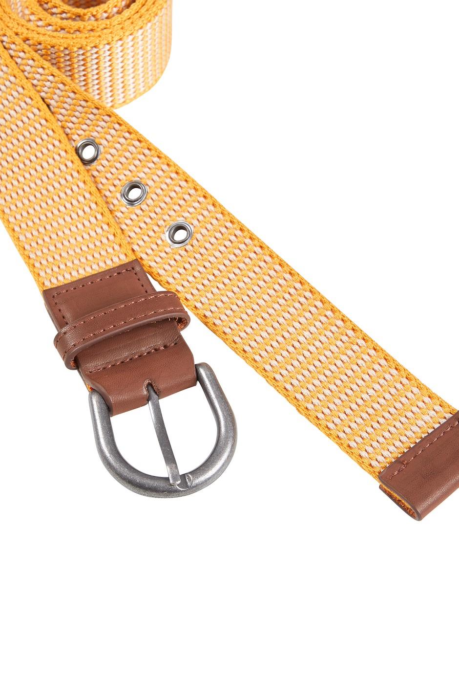 Arlette Webbing Buckle Belt Mustard
