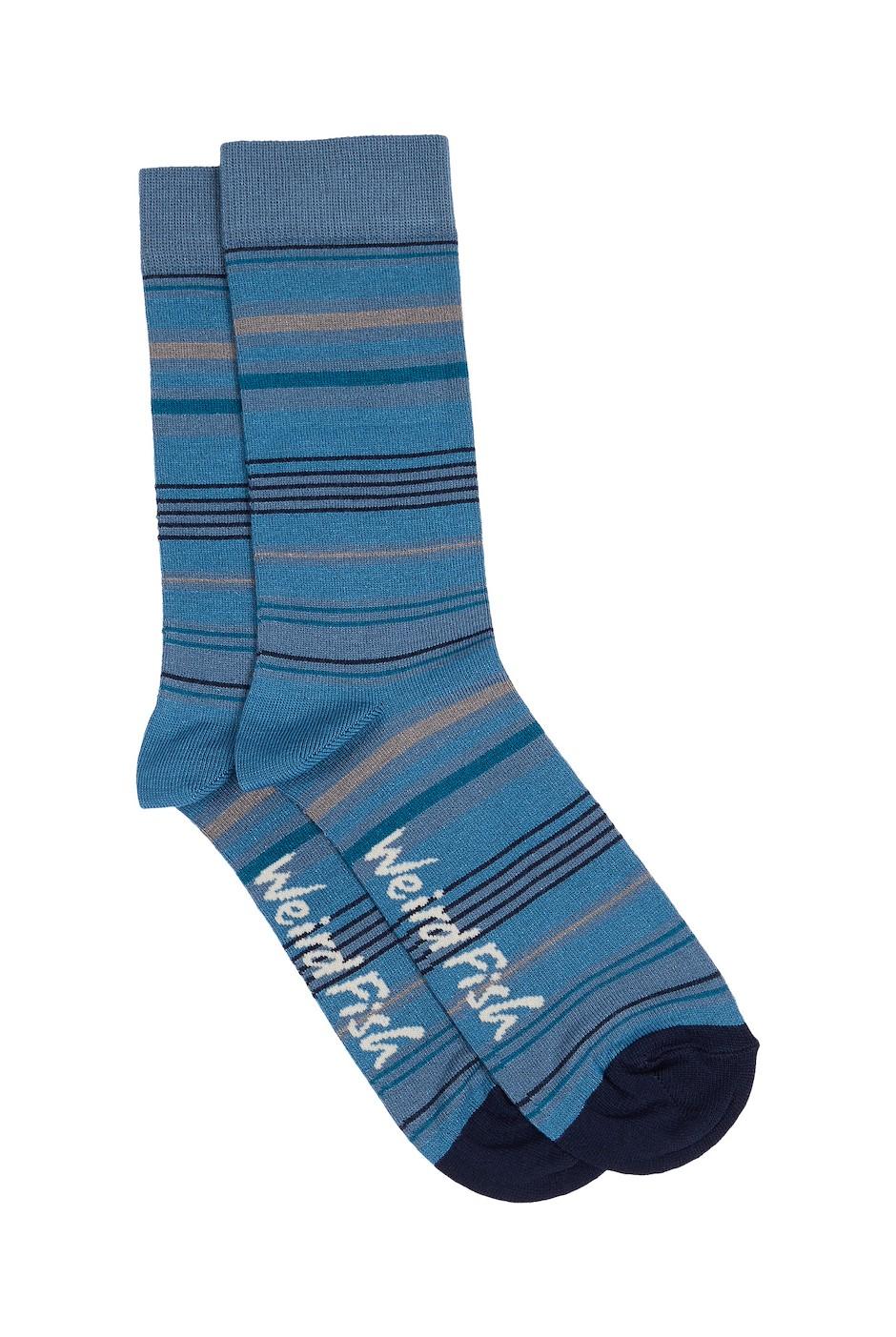 Mohr Bamboo Stripe Socks Provincial Blue