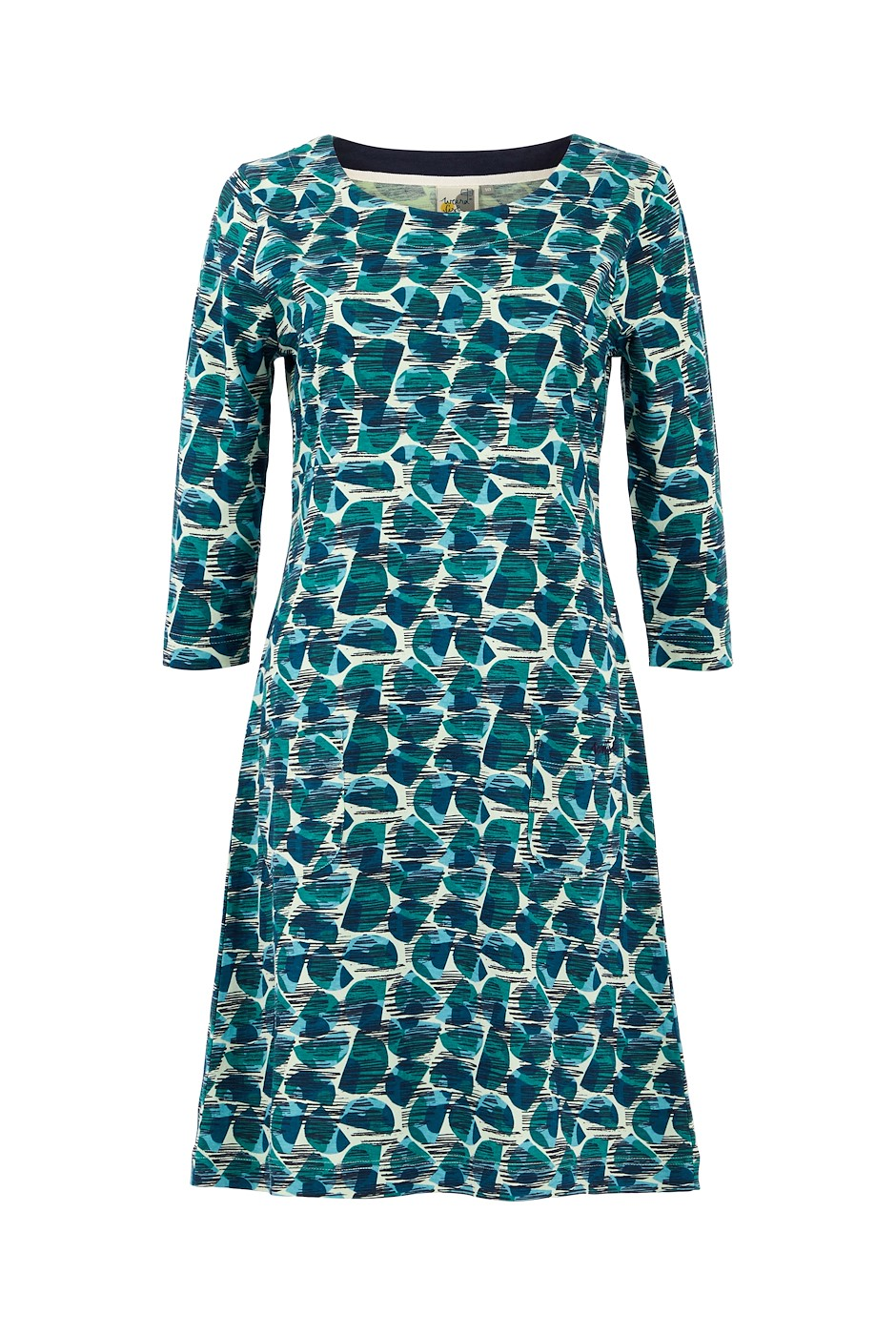 Starshine Organic Cotton Printed Jersey Dress Bottle Green