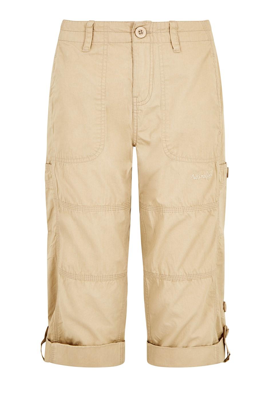 Salena Organic Cotton 3/4 Length Trousers Khaki
