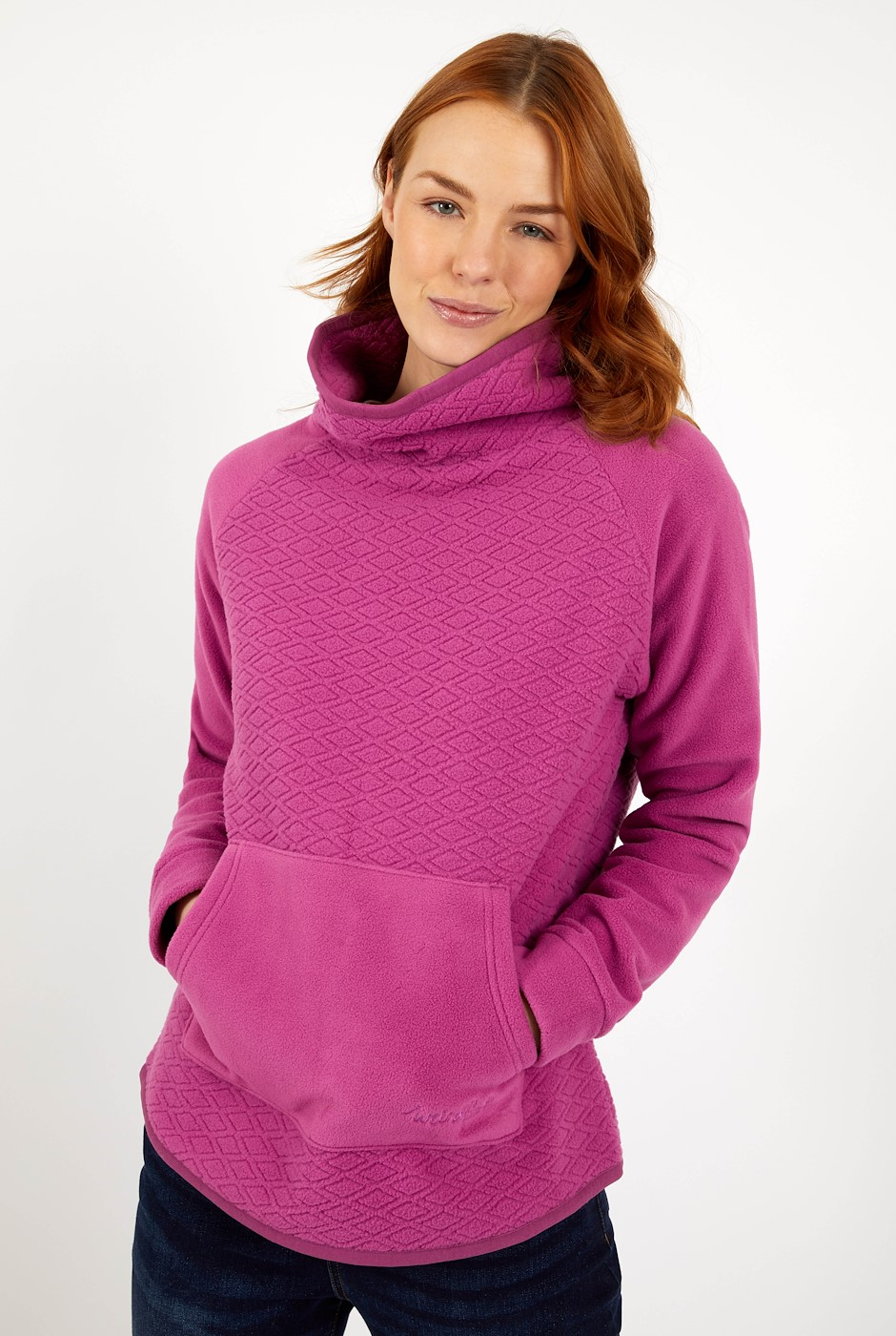 Sallca Popover Diamond Microfleece Mulberry