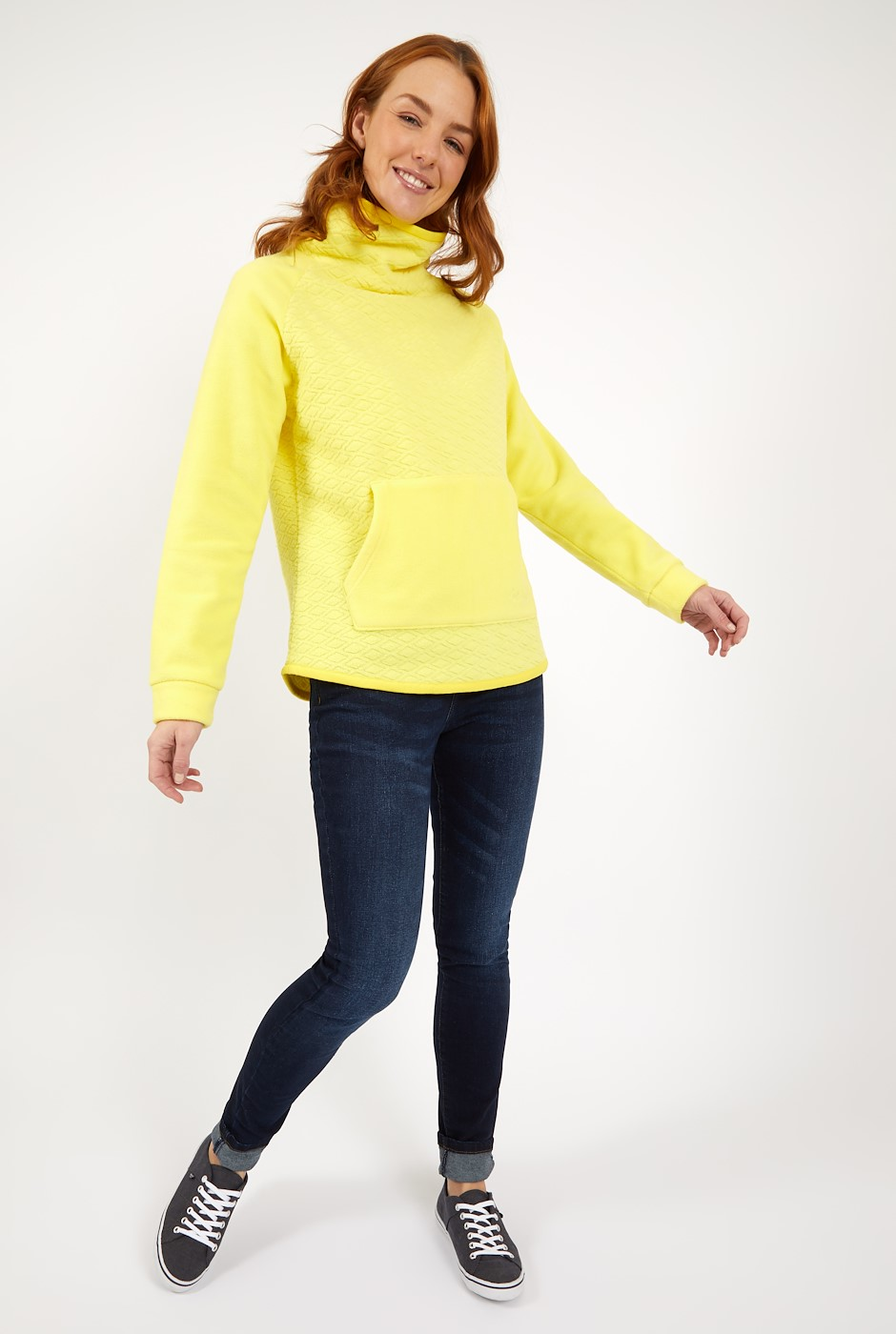 Sallca Popover Diamond Microfleece Lemon