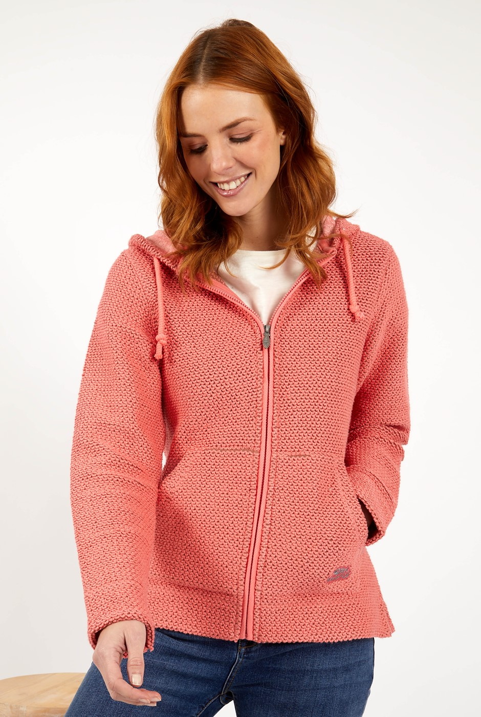 Weylin Full Zip Eco Macaroni Hoodie Tea Rose