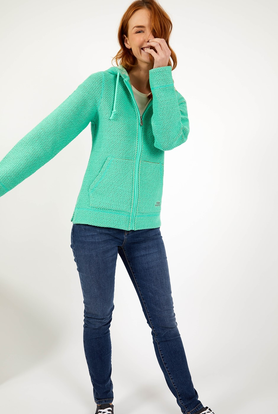 Weylin Full Zip Eco Macaroni Hoodie  Soft Green