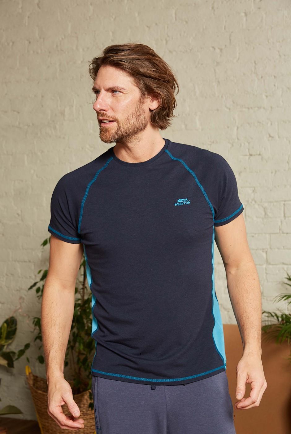 Zion Bamboo T-Shirt Navy