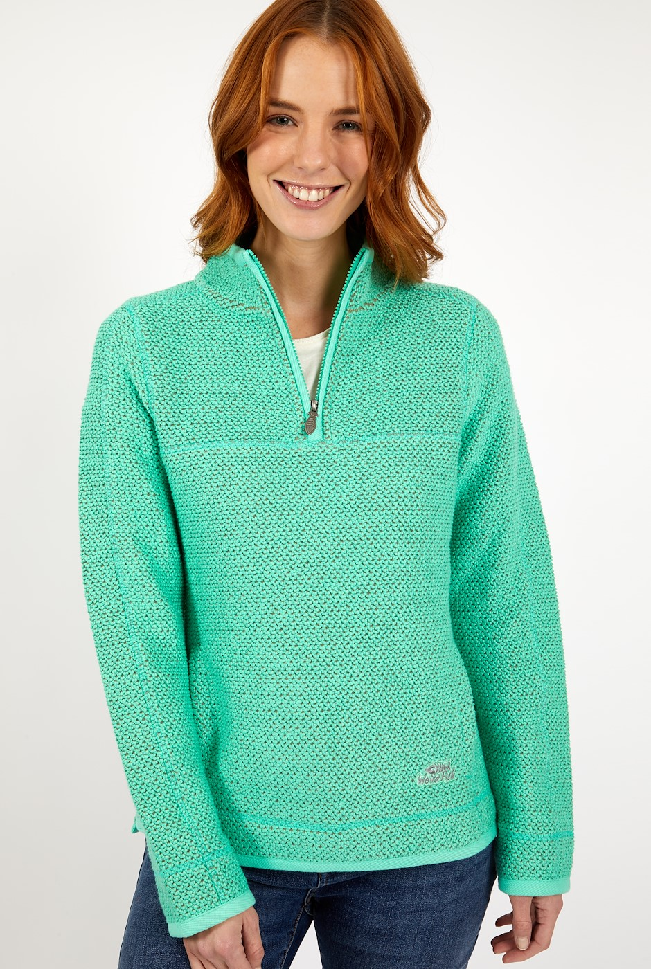 Aria 1/4 Zip Eco Macaroni Soft Green