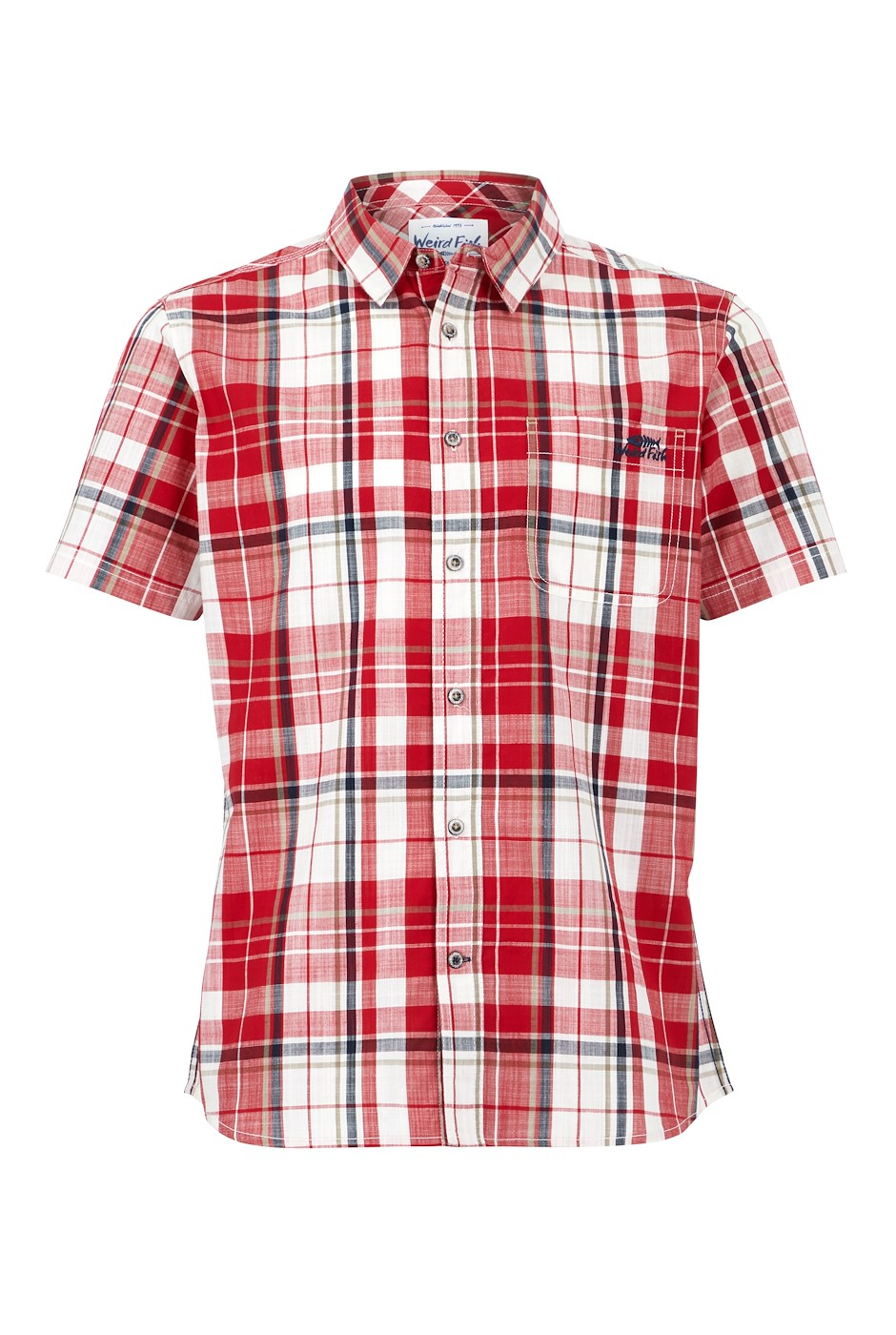 Ennis Short Sleeve Check Shirt Chilli Pepper