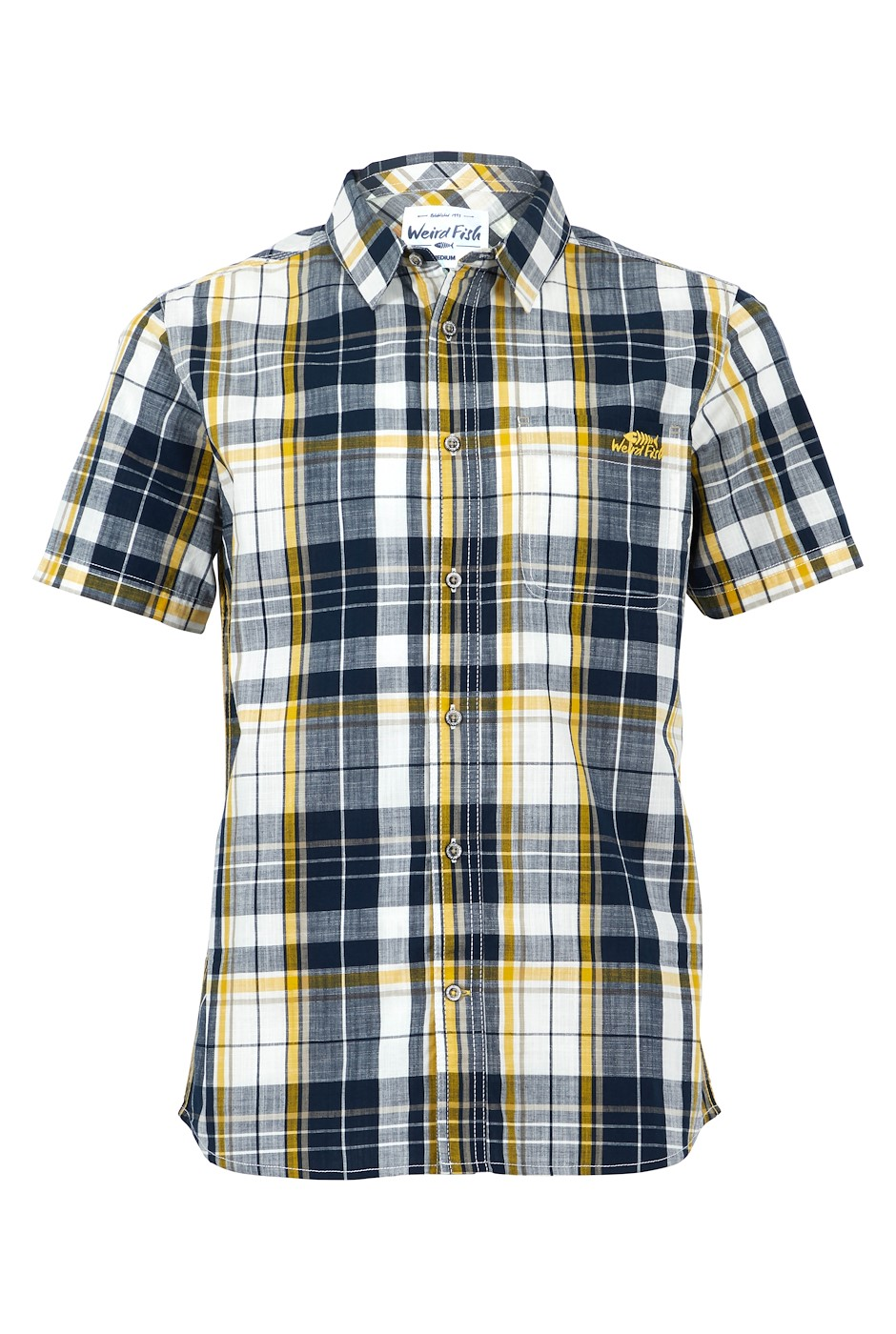 Ennis Short Sleeve Check Shirt Navy