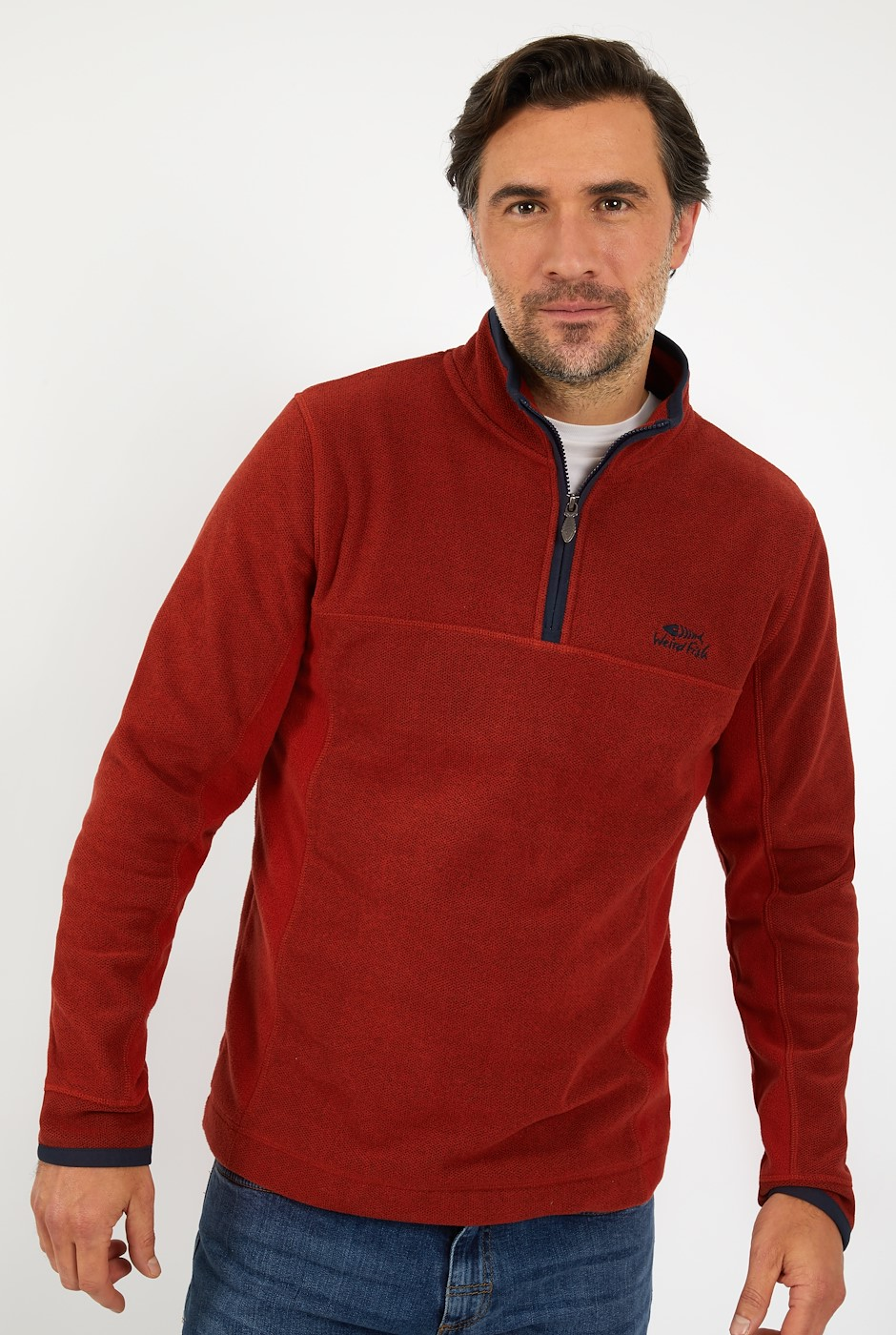 Marcel 1/4 Zip Birdseye Fleece Nut