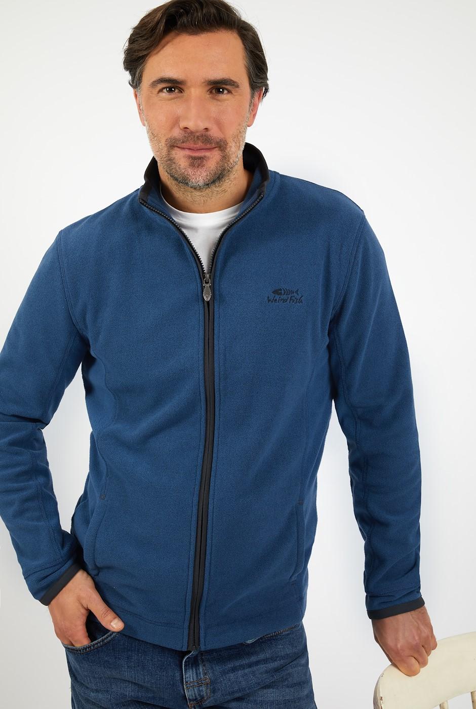 Manet Full Zip Birdseye Fleece Ensign Blue