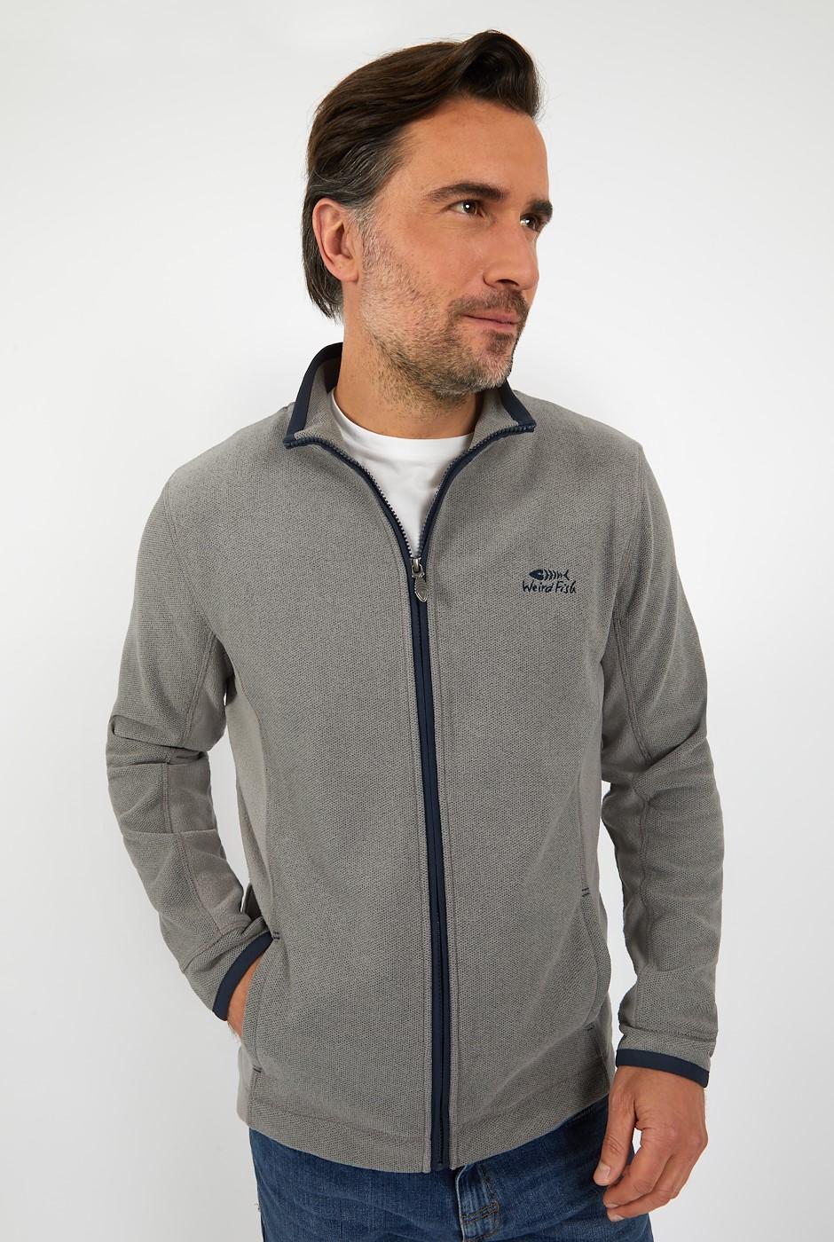 Manet Full Zip Birdseye Fleece Frost Grey