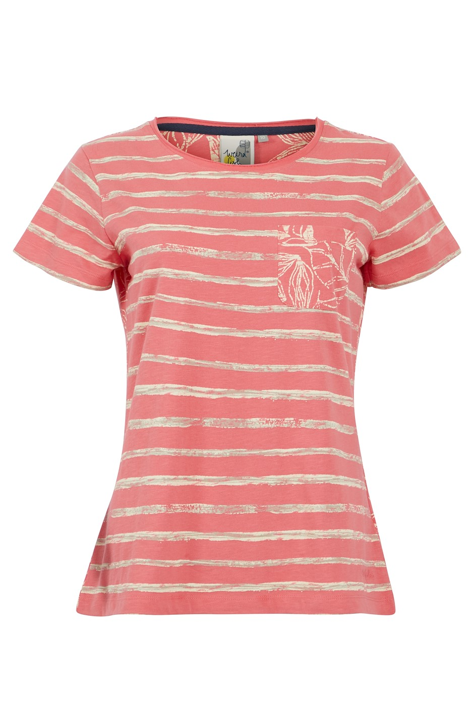Woodland Organic Cotton Stripe T-Shirt Tea Rose