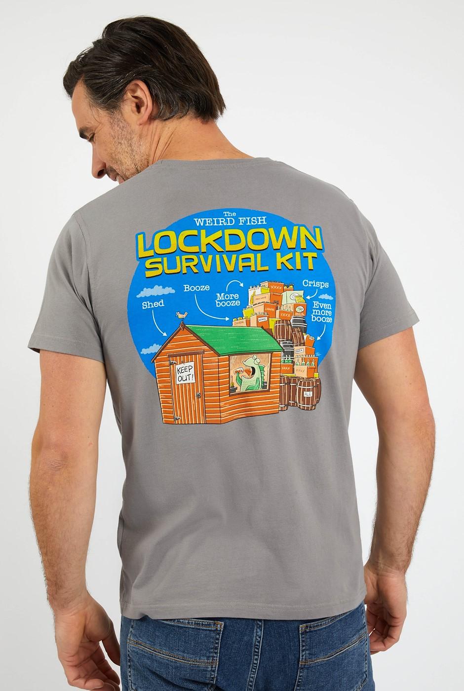 Survival Kit Organic Artist T-Shirt Frost Grey