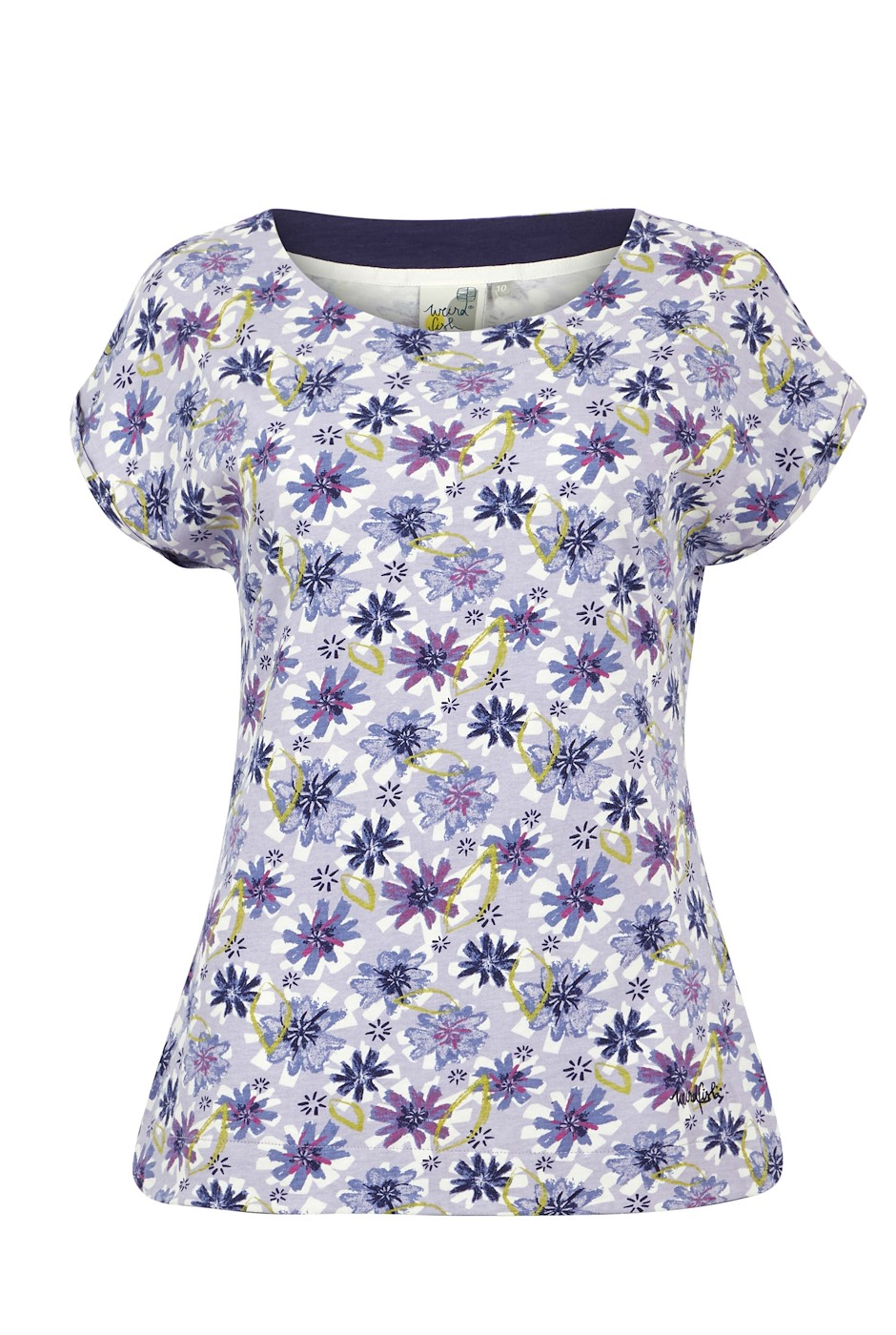 Paw Paw Organic Cotton Printed Jersey T-Shirt Lilac Hint