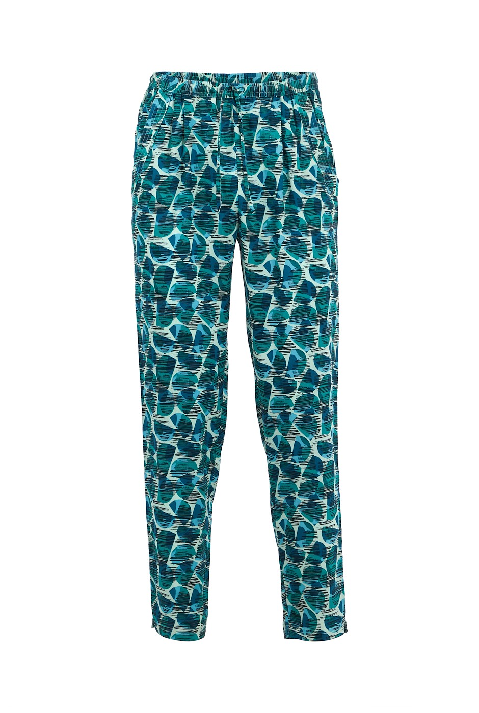 Tinto Printed Viscose Trousers Bottle Green