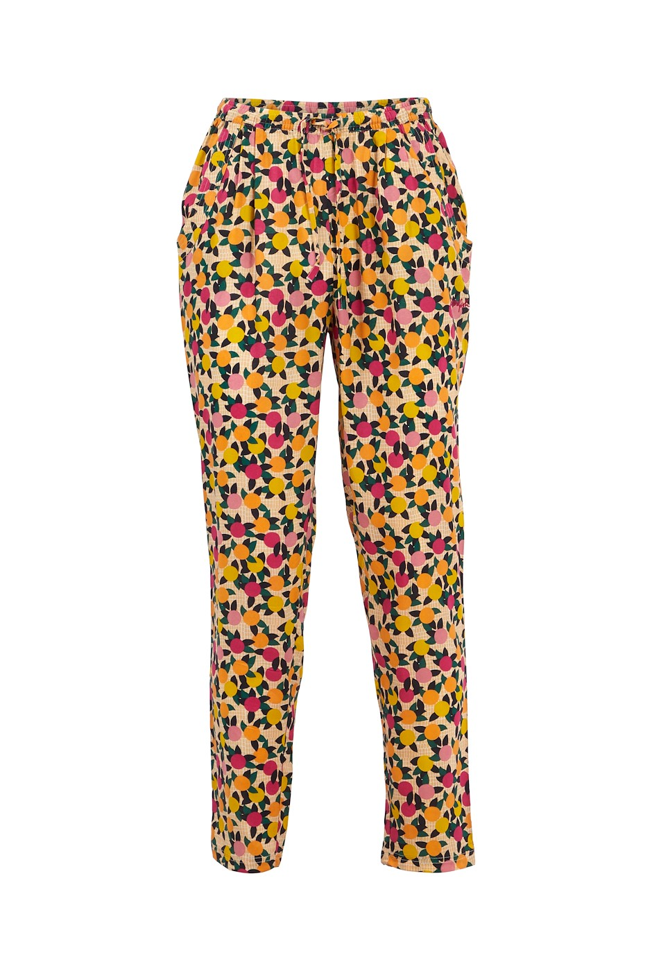 Tinto Printed Viscose Trousers Apricot