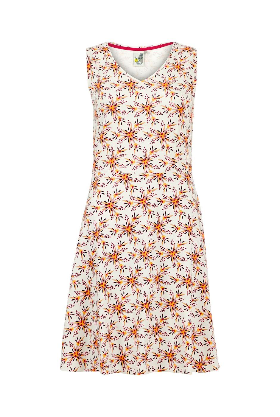 Paisley Organic Cotton Printed Jersey Dress Light Cream