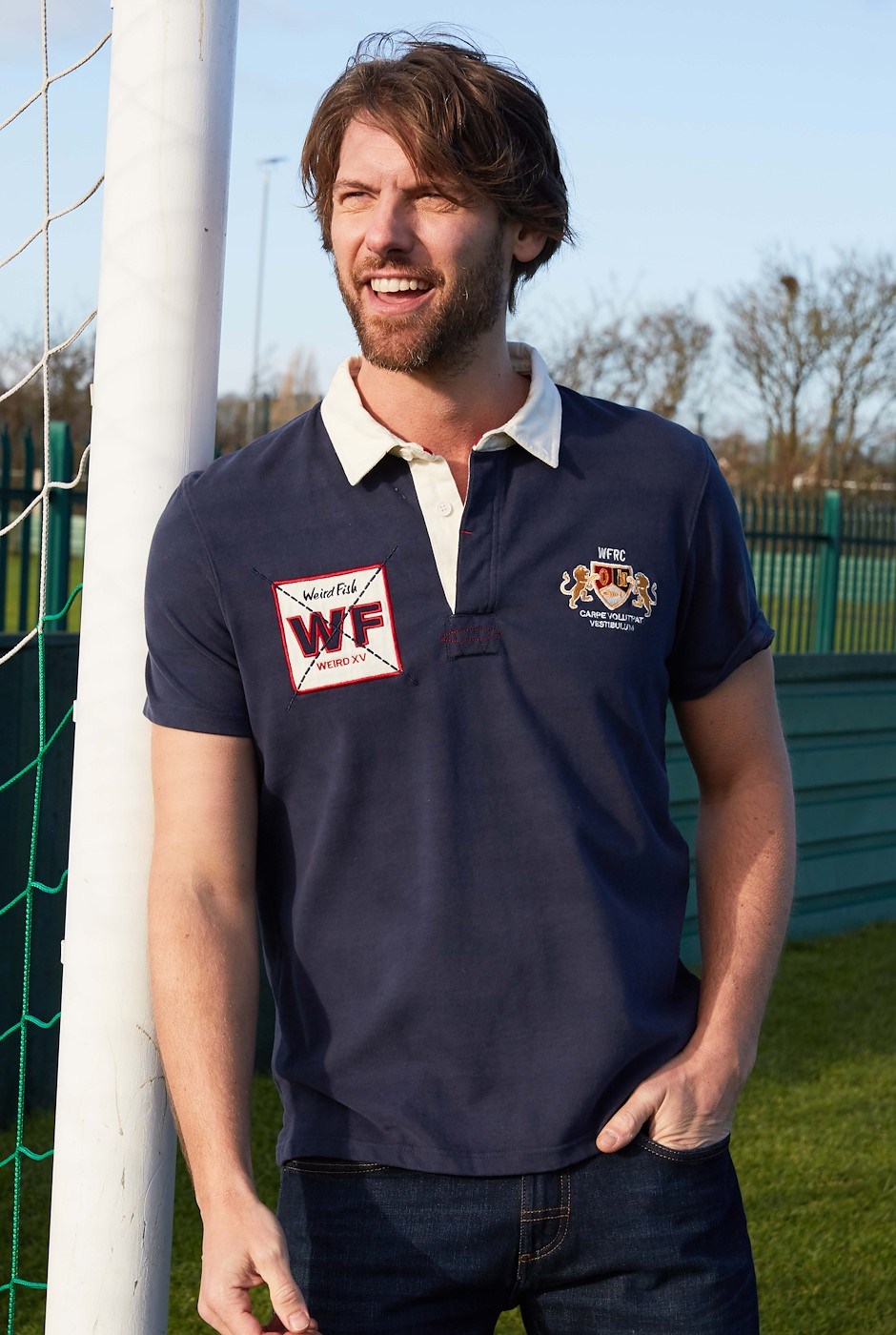 Farrell Organic Cotton Rugby Shirt Navy