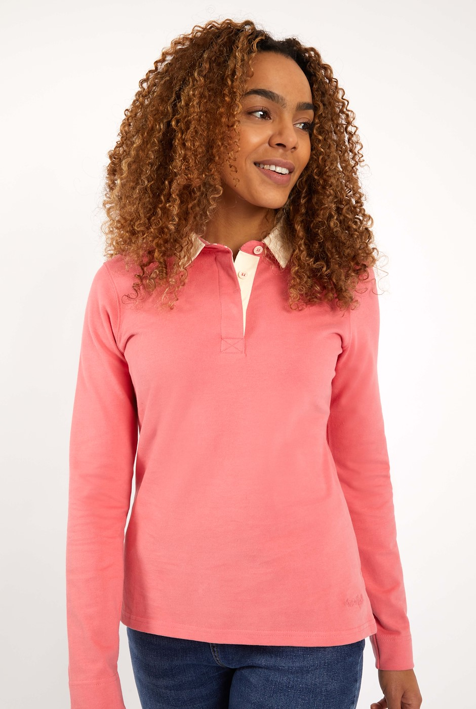 Fern Organic Cotton Rugby Shirt  Tea Rose