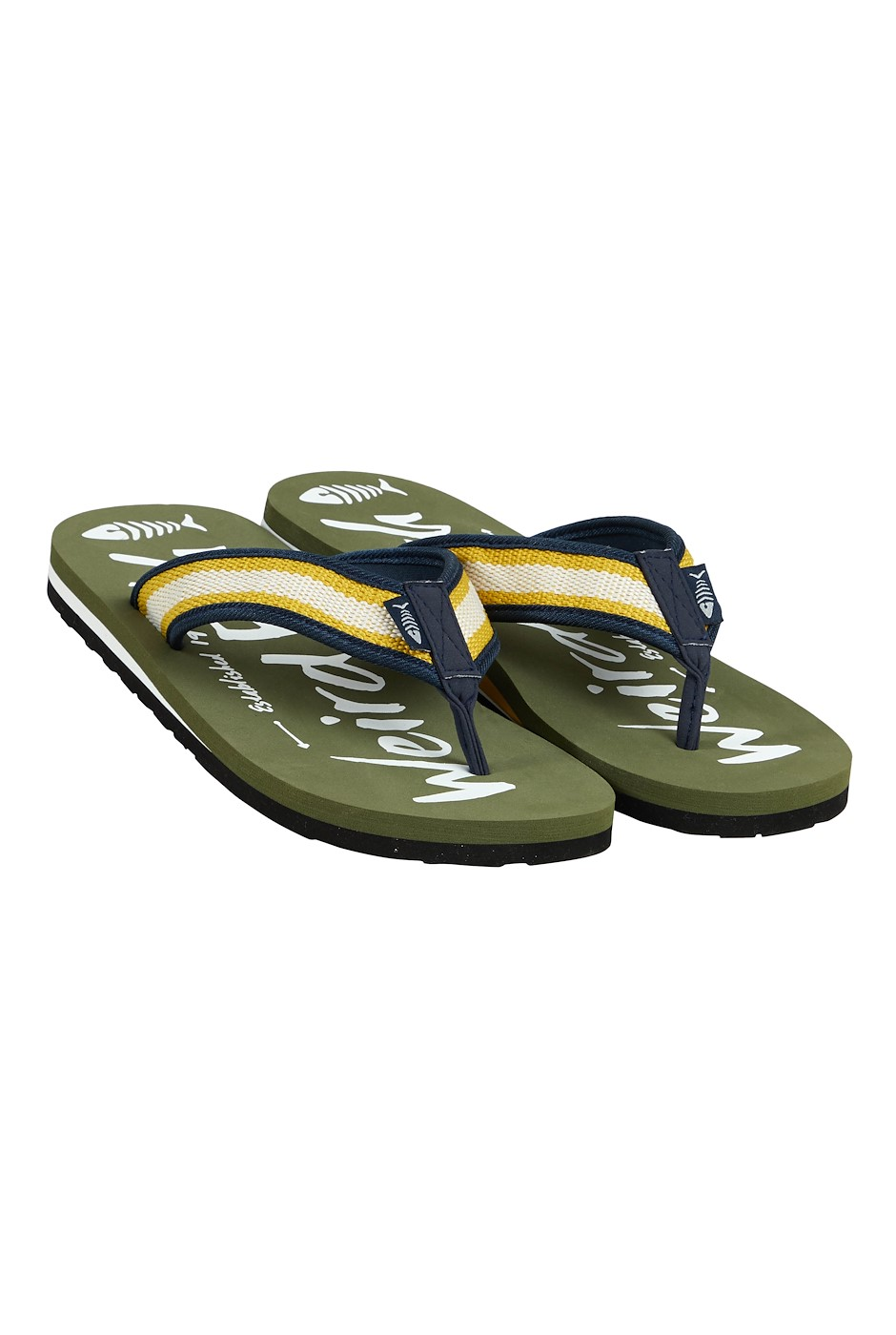 Waterford Printed Flip Flop Dark Olive