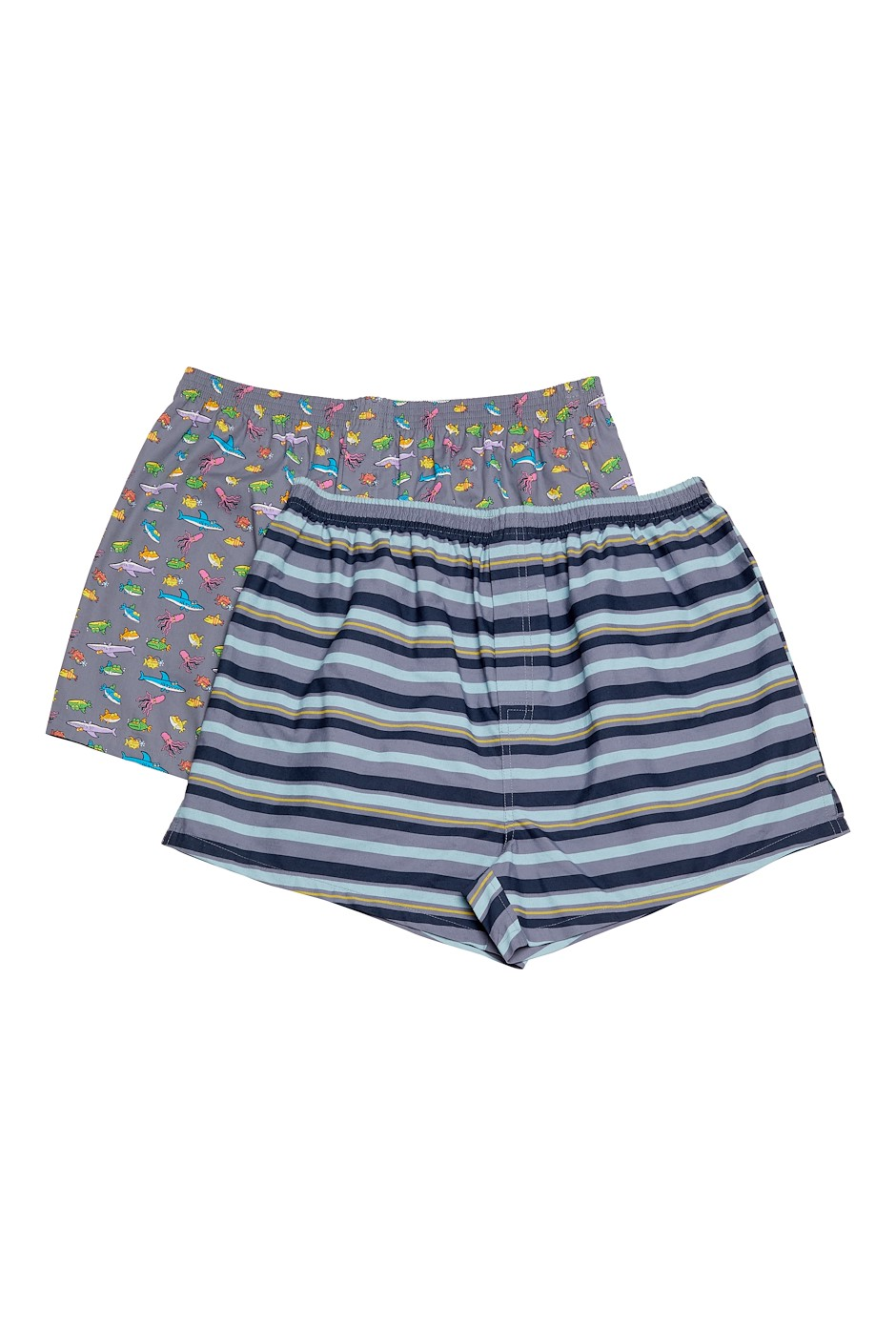 Harley Boxer Shorts Twin Pack Frost Grey