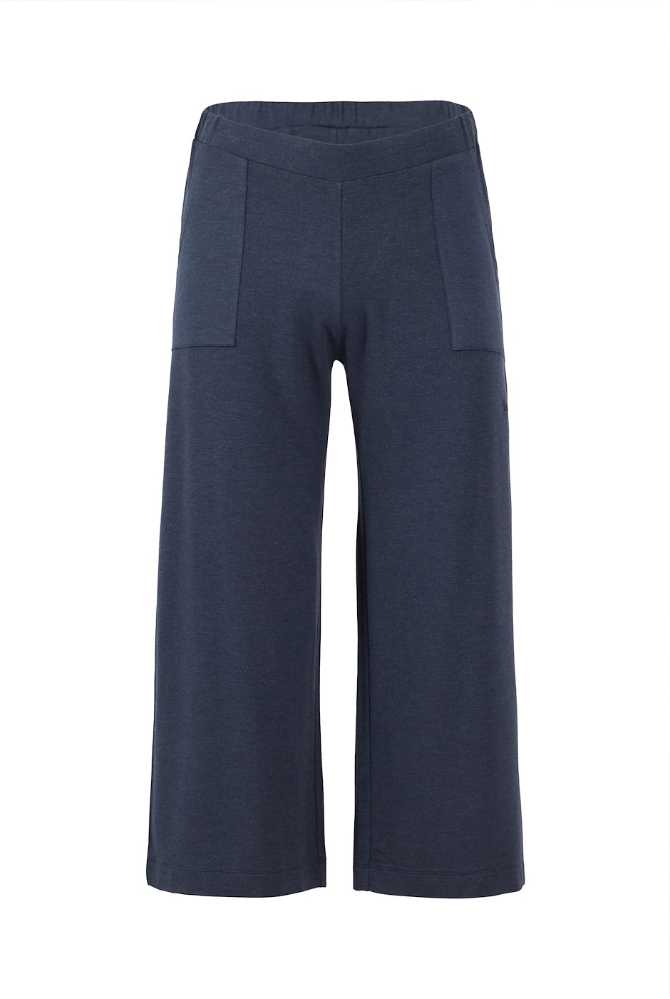 Tilda Bamboo Wide Leg Trousers Navy Marl