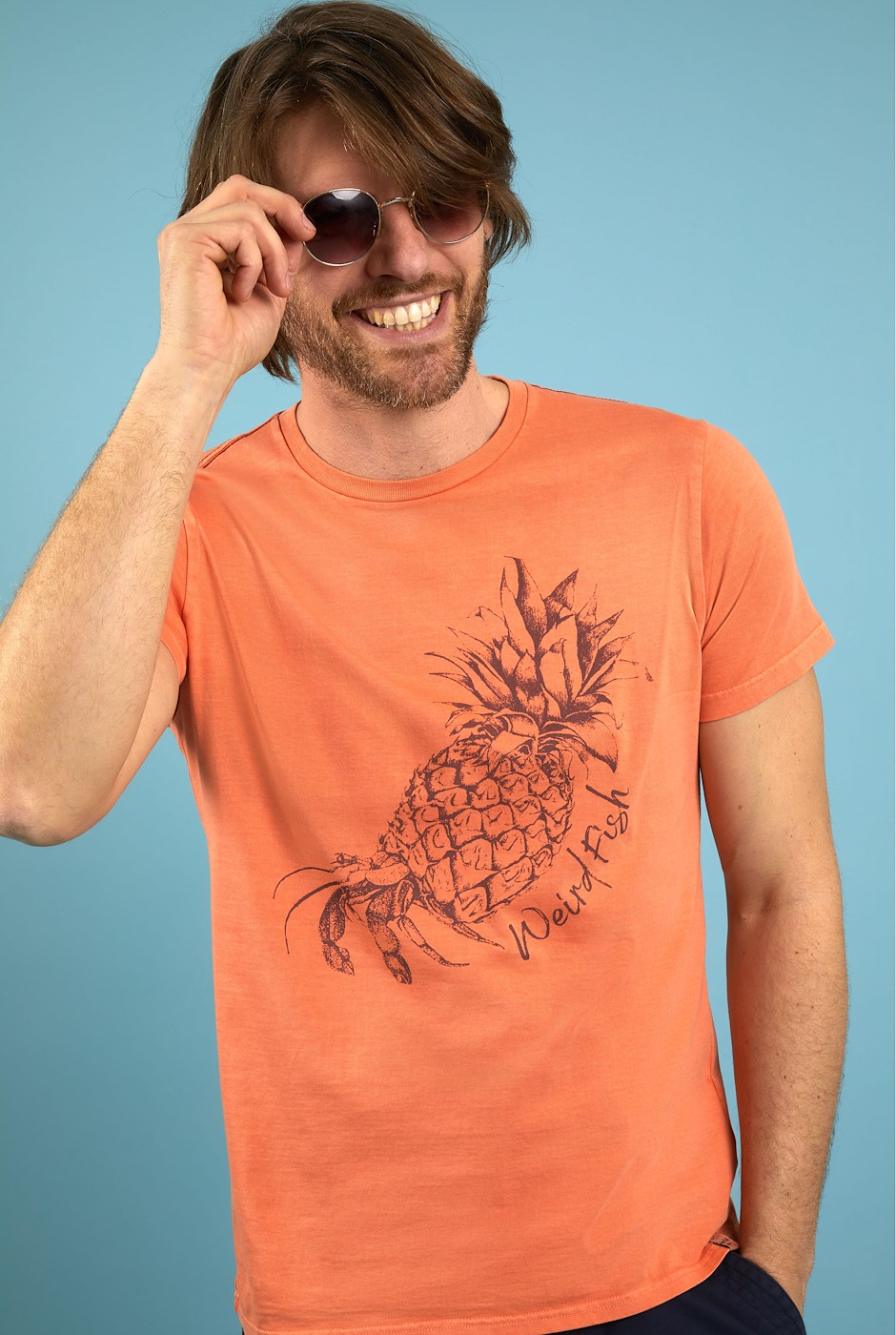 Hermie Organic Cotton T-Shirt Orange