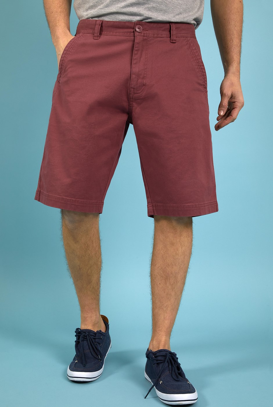 Rayburn Organic Cotton Flat Front Shorts Crushed Berry