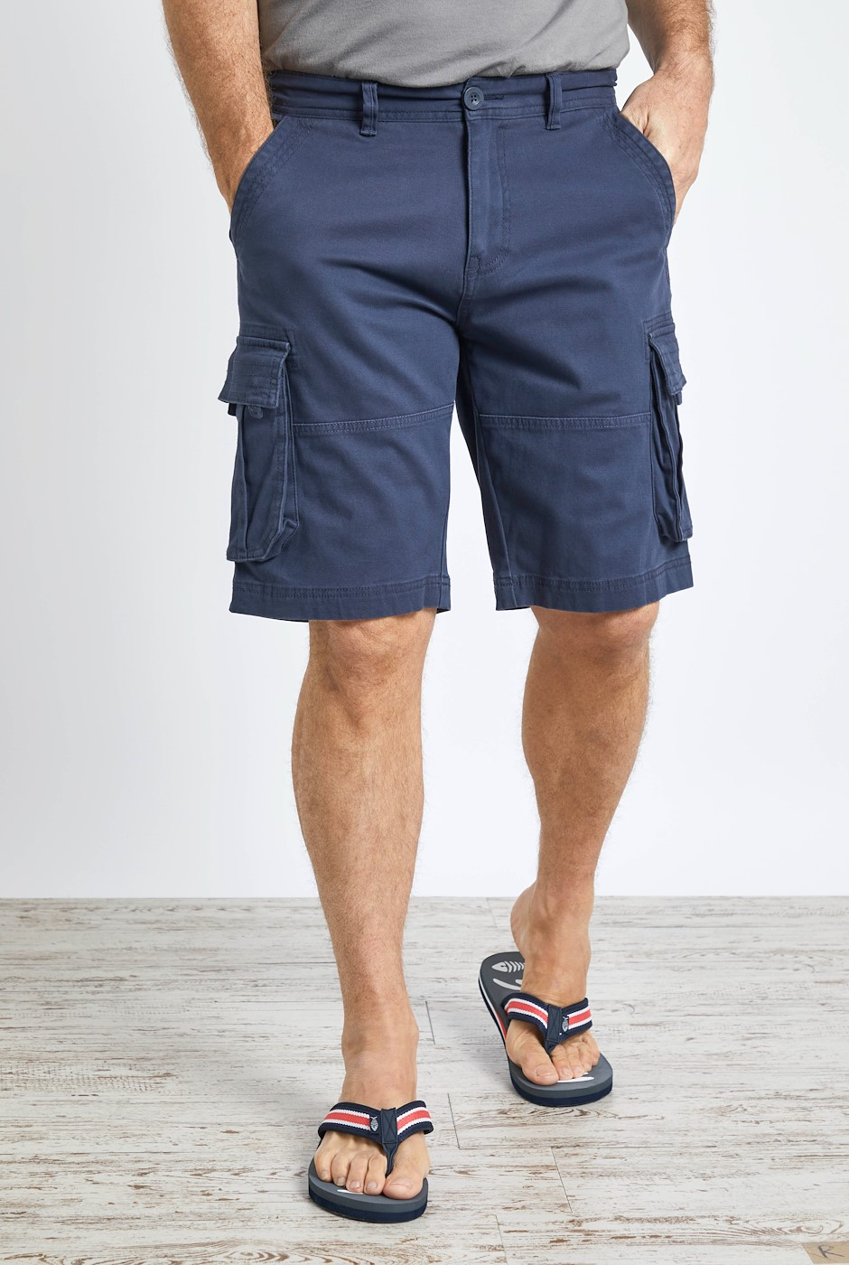 Rigney Organic Cotton Cargo Shorts Navy