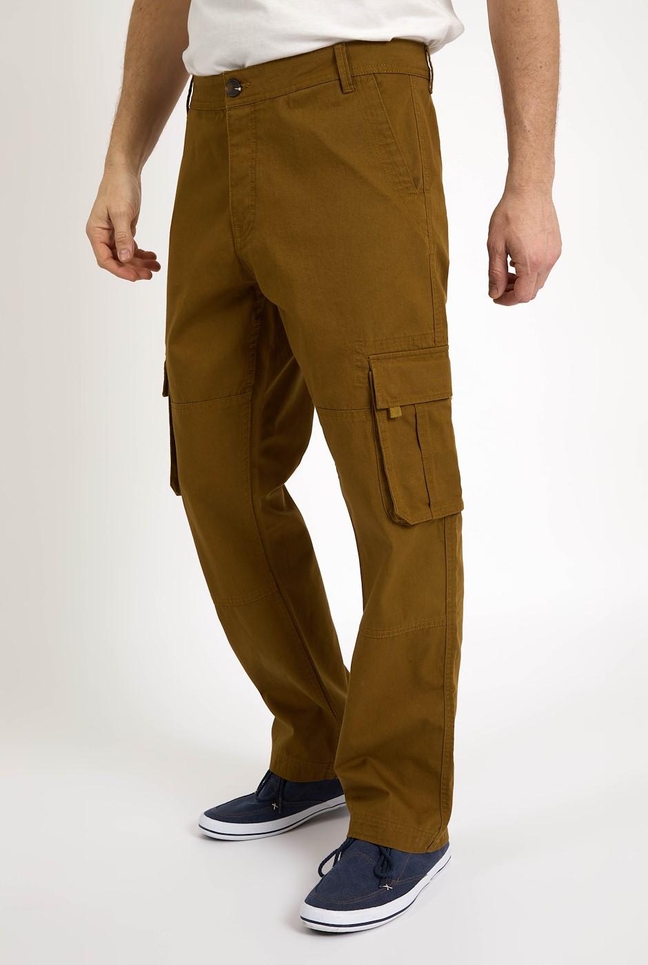Wynn Twill Cargo Trousers Sepia