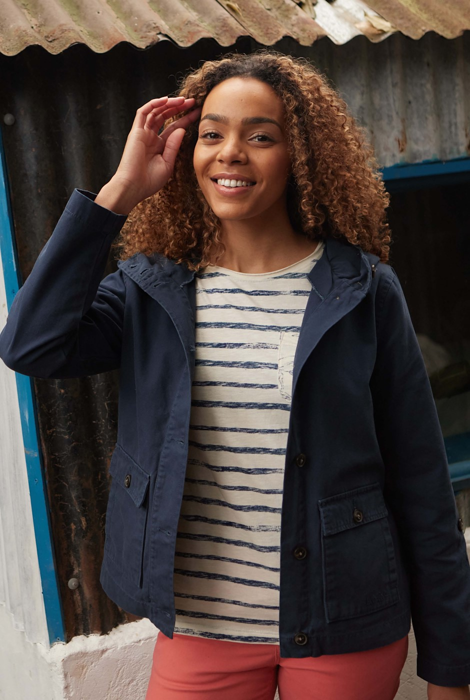 Bardsey Canvas Jacket Navy
