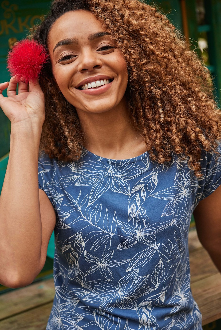Paw Paw Organic Cotton Printed Jersey T-Shirt Ensign Blue