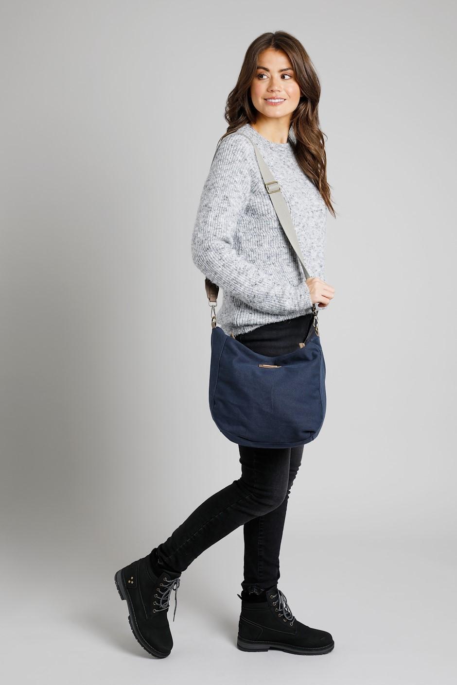 Burford Canvas Shoulder Bag Navy