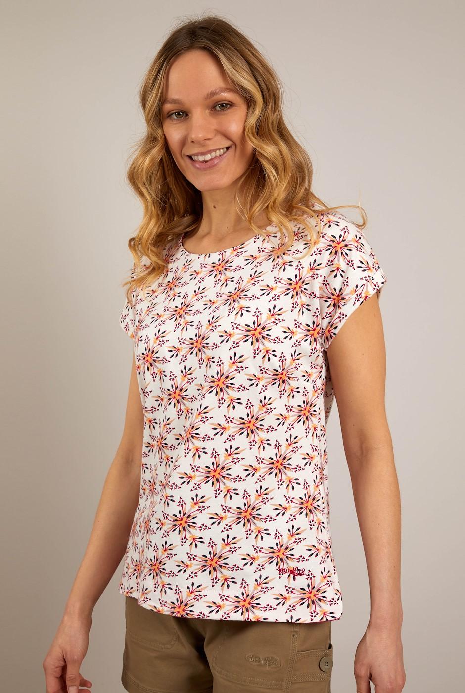 Paw Paw Organic Cotton Printed Jersey T-Shirt Light Cream