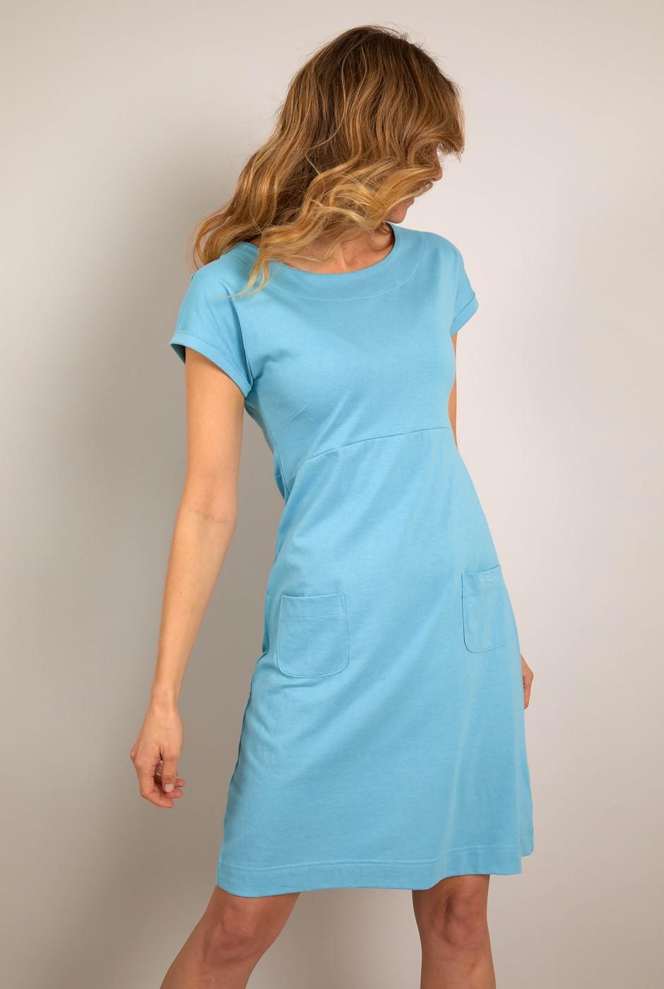 Viola Jersey Dress Sky Blue