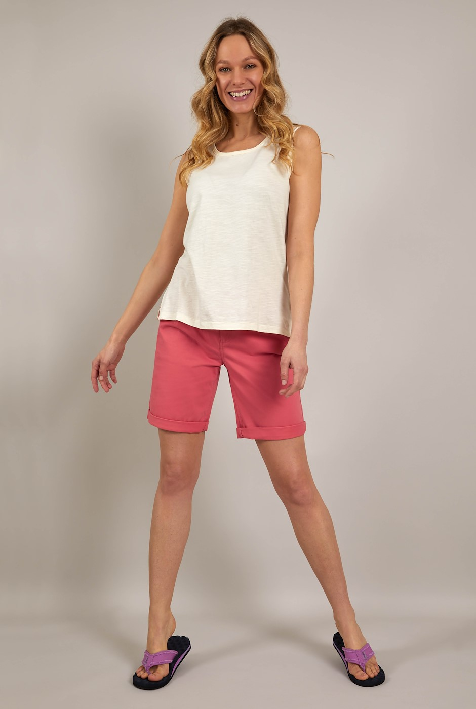 Vittoria Organic Cotton Bermuda Shorts Tea Rose
