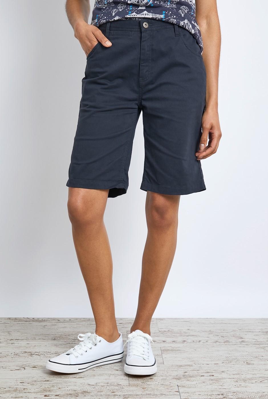 Vittoria Organic Cotton Bermuda Shorts Navy
