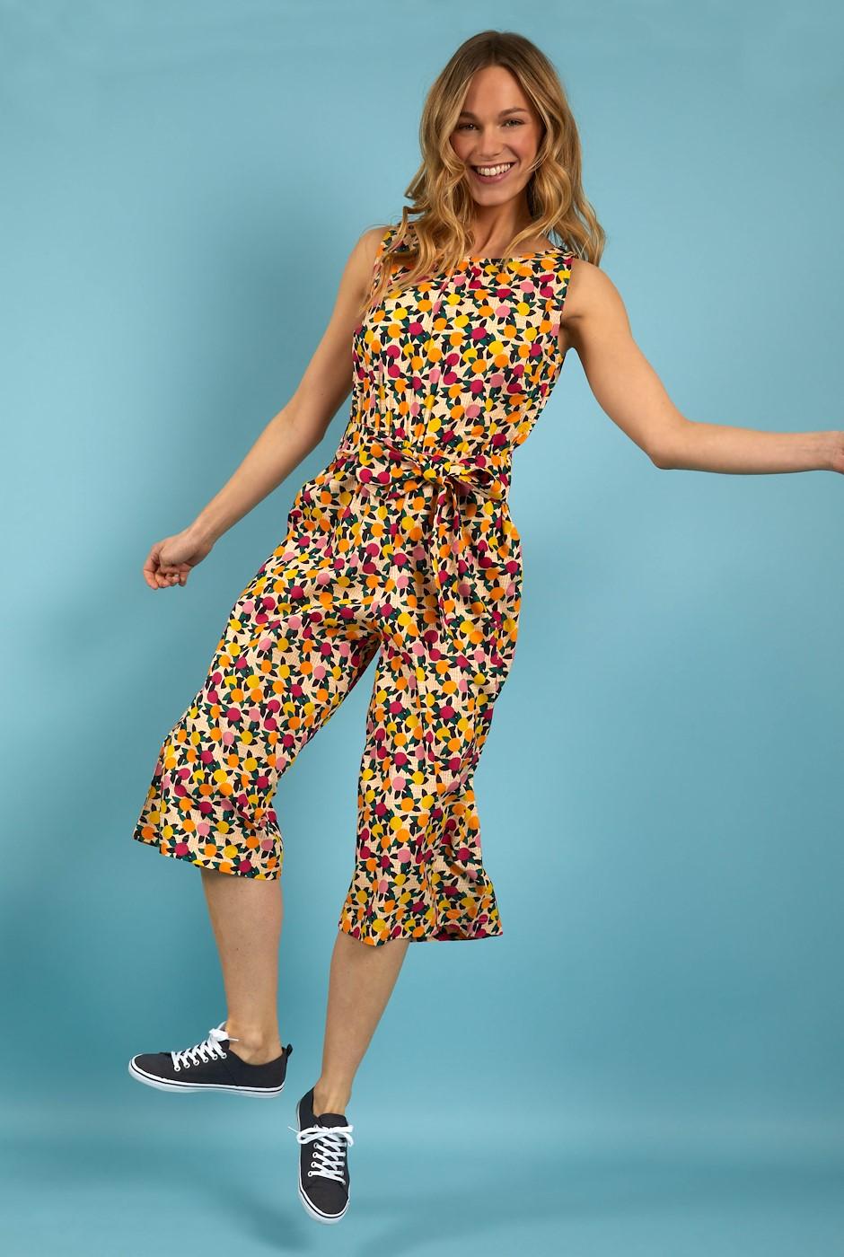 Nalani Printed Jumpsuit Apricot