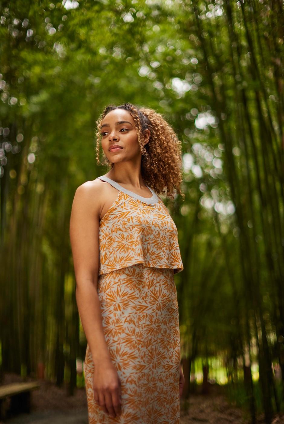 Ponte Bamboo Maxi Dress Pearl Grey Marl