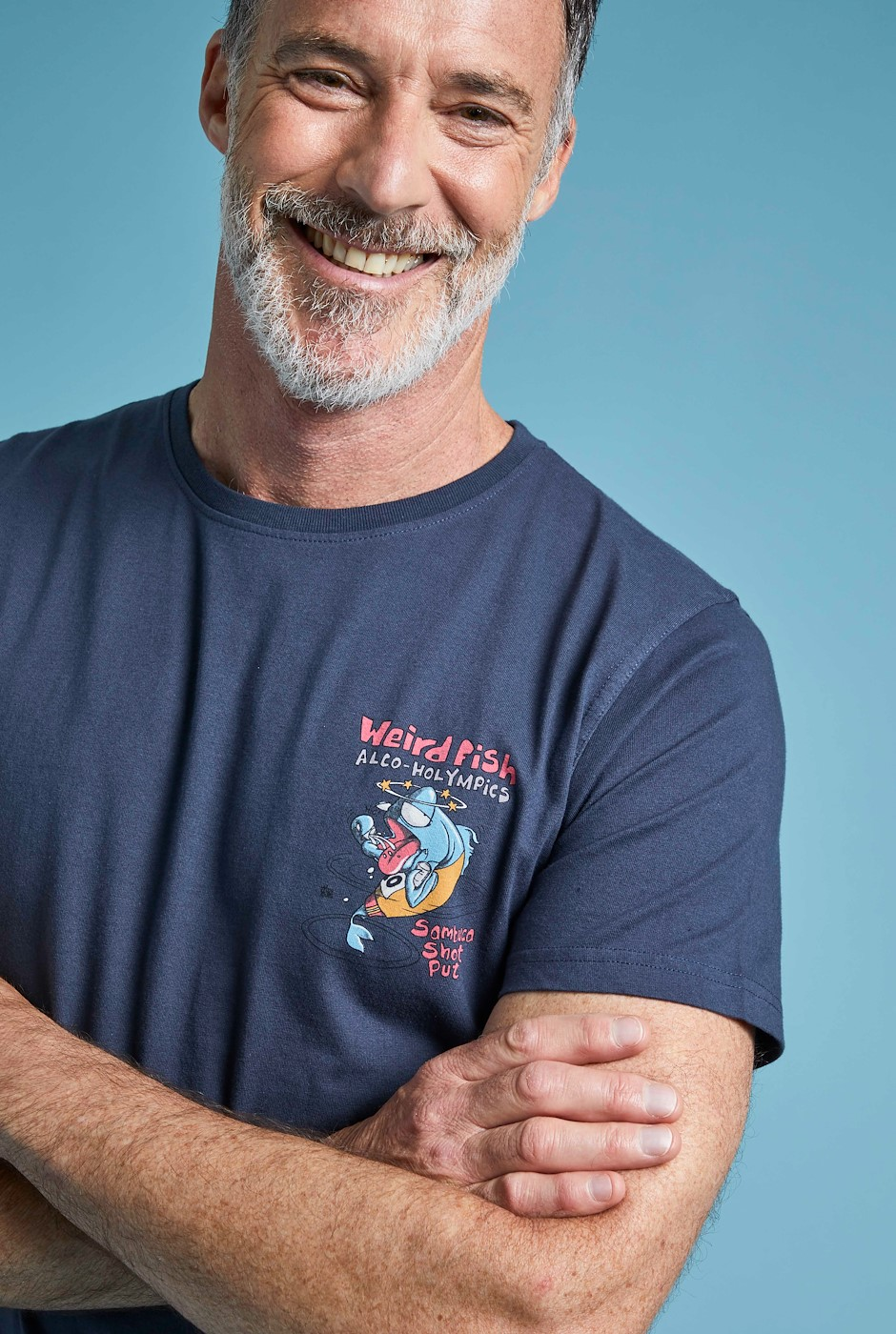 Sambuca Shot Organic Cotton Artist T-Shirt Navy