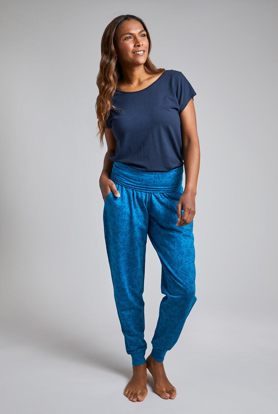 Myla Bamboo Cuffed Trousers Blue Sapphire