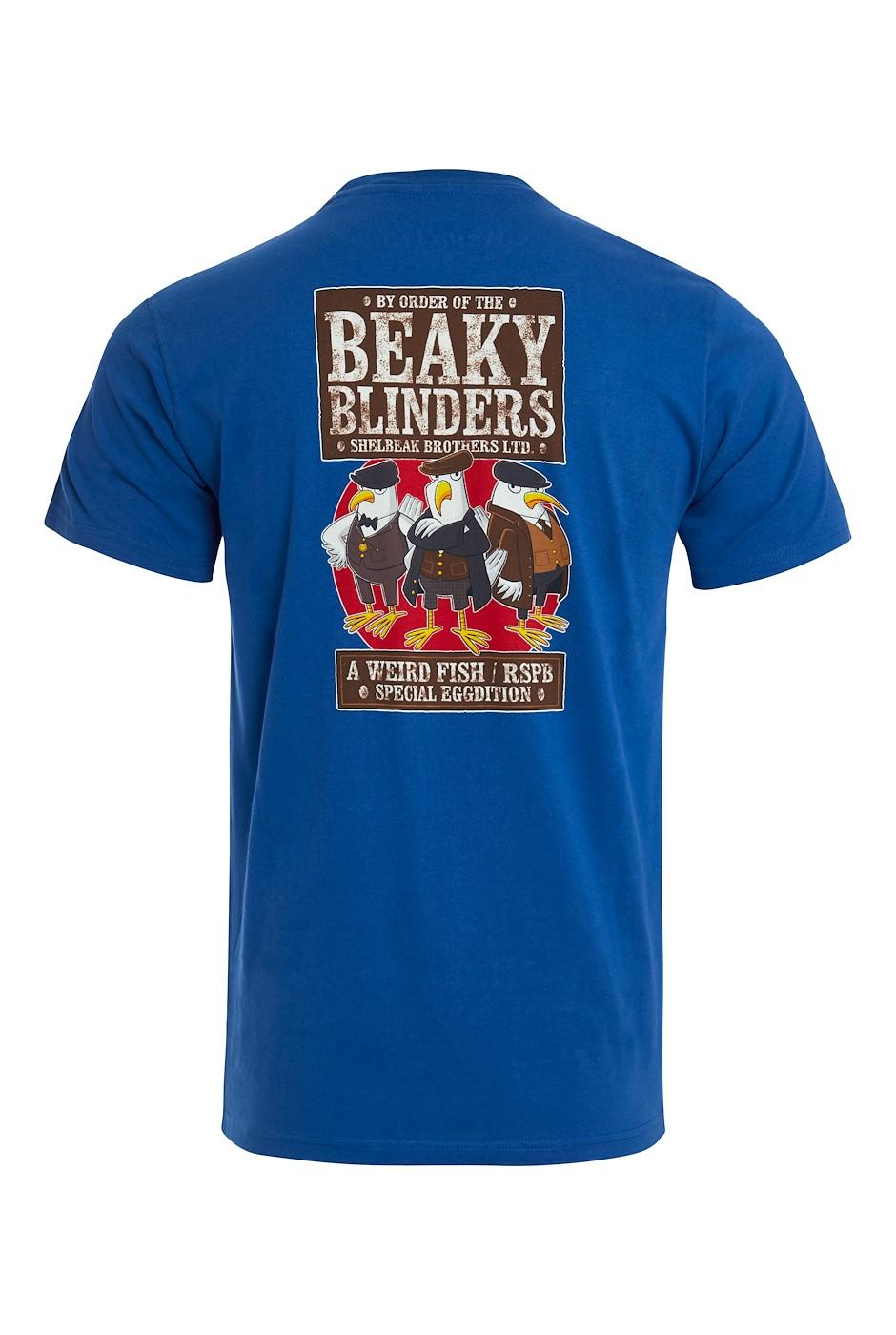 Beaky Blinders Organic Cotton RSPB Artist T-Shirt True Blue