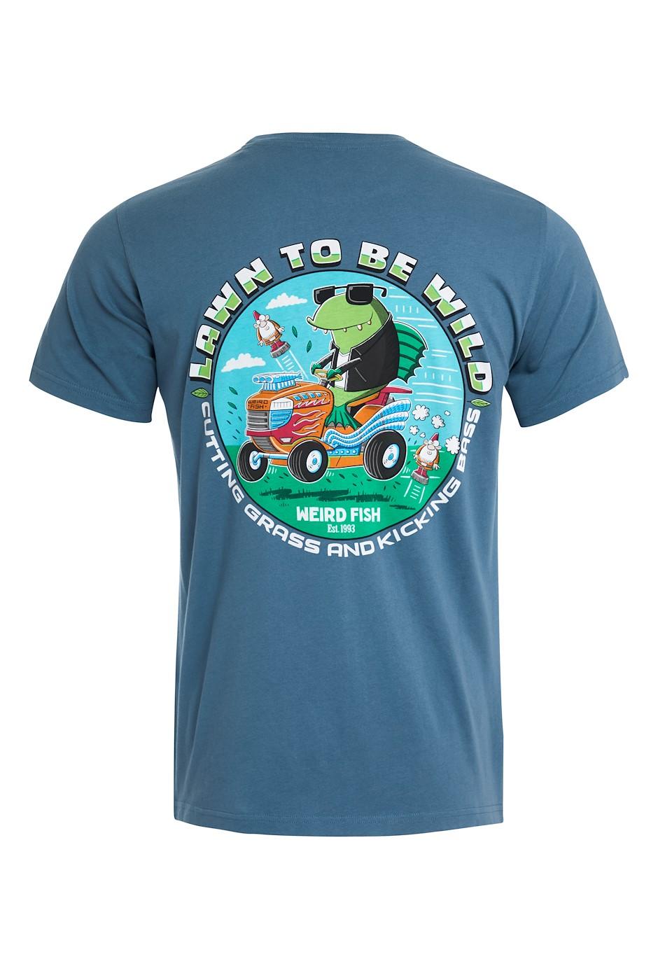 Lawn To Be Organic Cotton Artist T-Shirt Blue Mirage