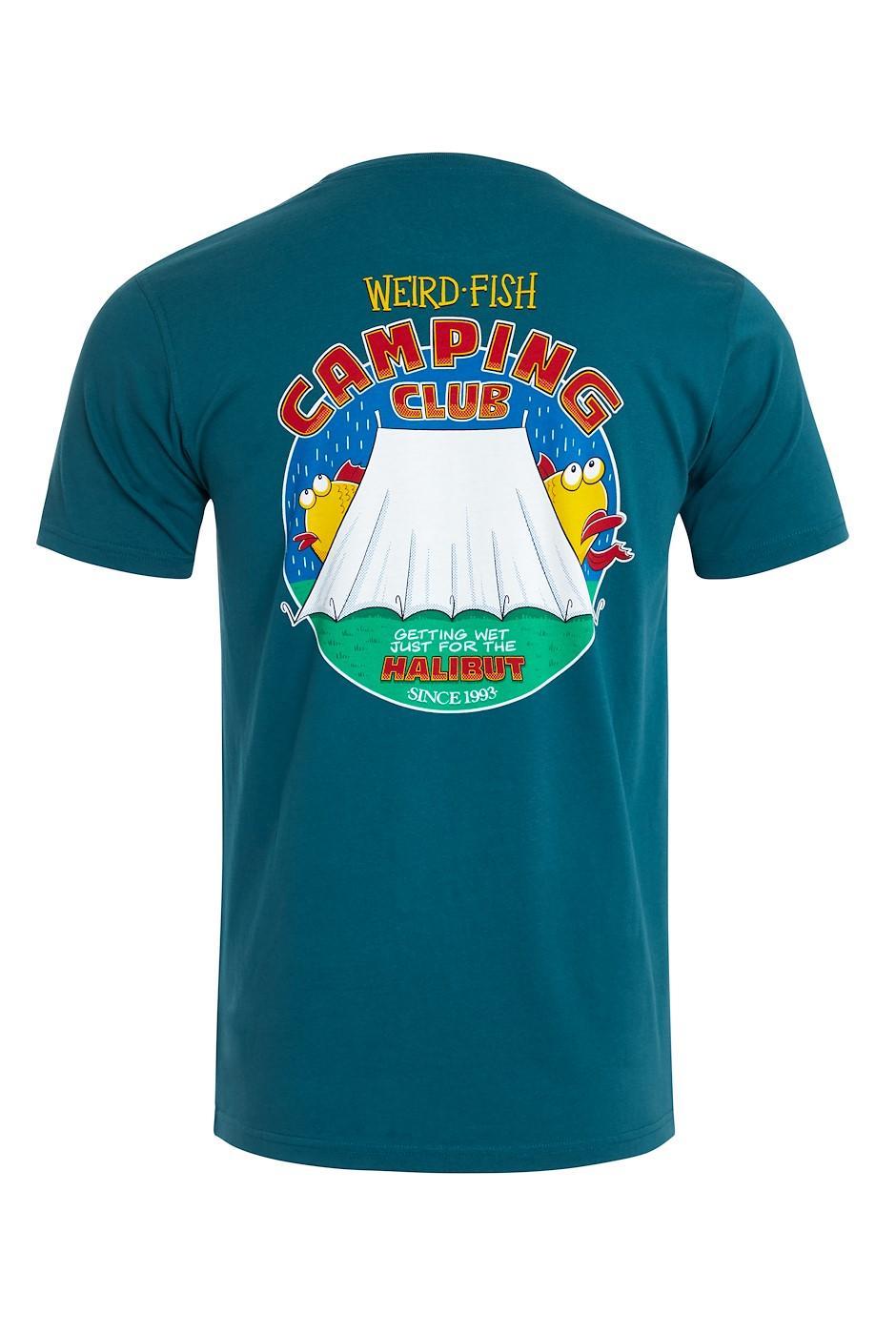 Weird Camping Organic Cotton Artist T-Shirt Petrol Blue