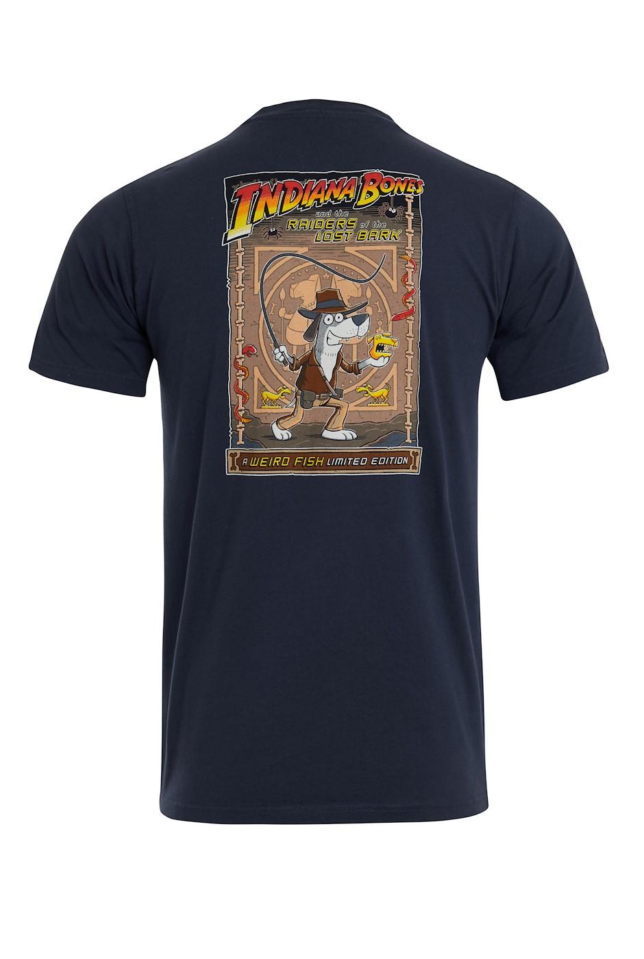 Indiana Bones Battersea Organic Cotton Artist T-Shirt Navy