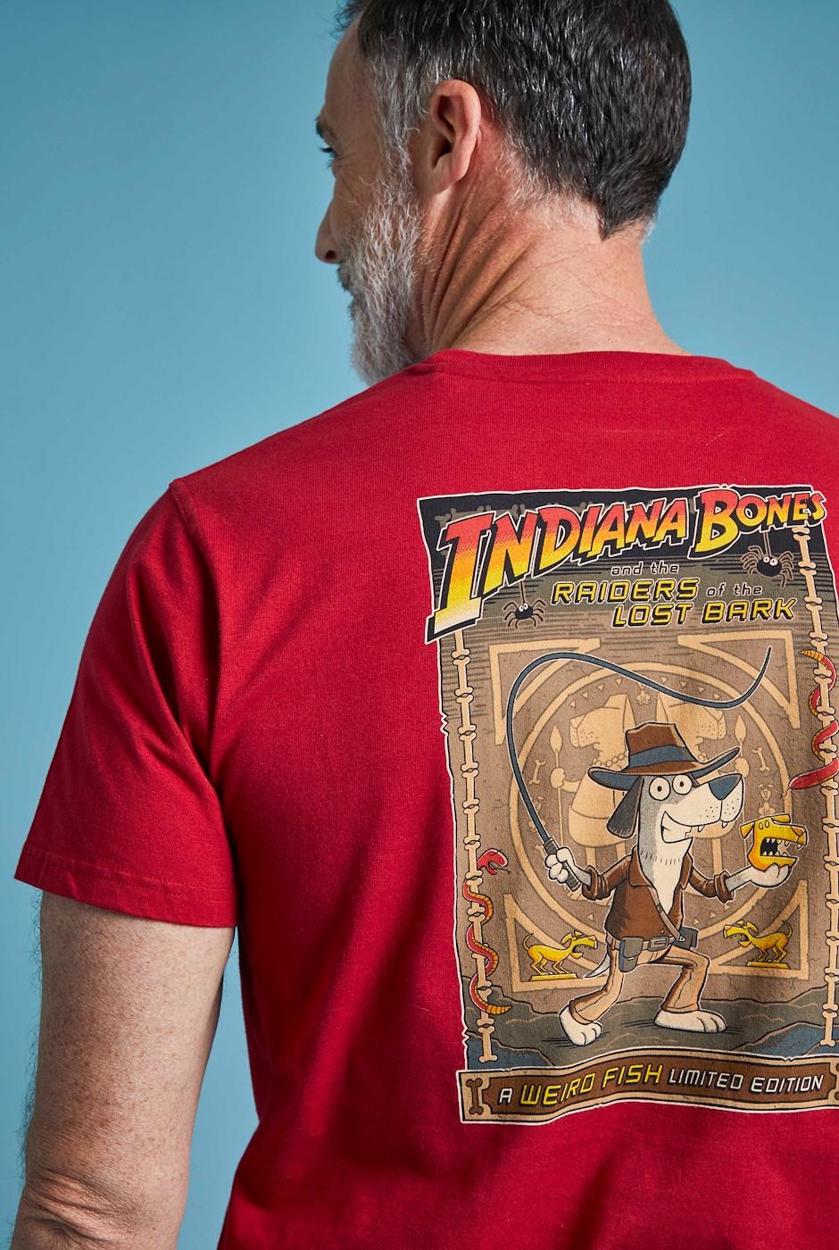 Indiana Bones Battersea Organic Cotton Artist T-Shirt Chilli Pepper